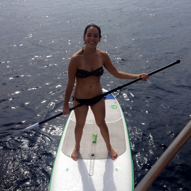 Naomi Loved the Paddleboard