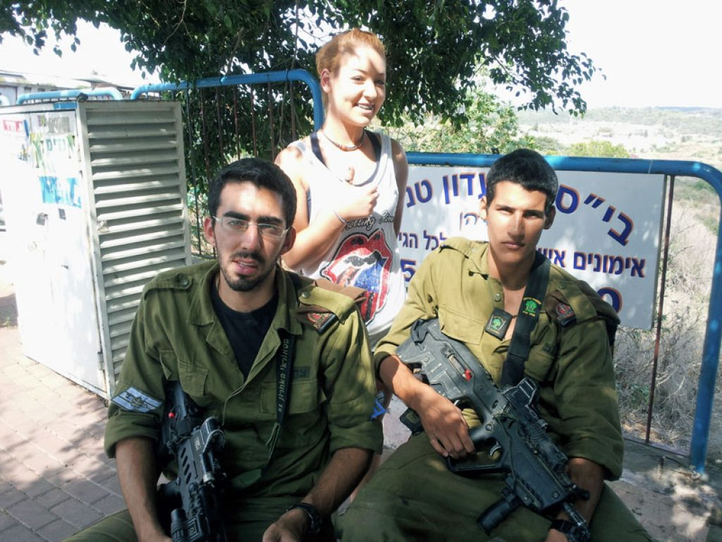 IDF combat soldiers with my Daughter Ariella