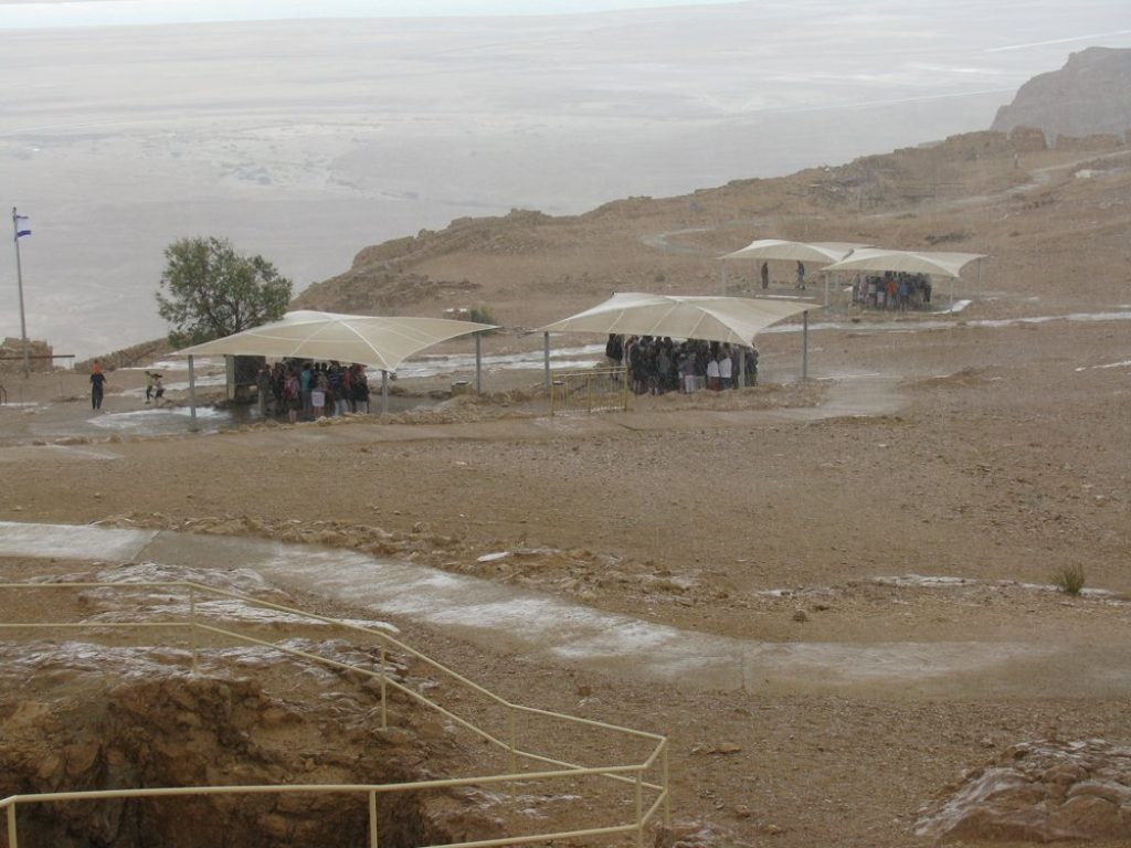 a unique experience rain on masada