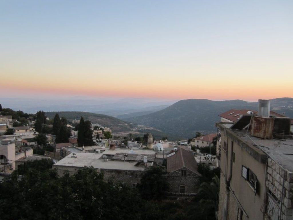 a view of the city of safed