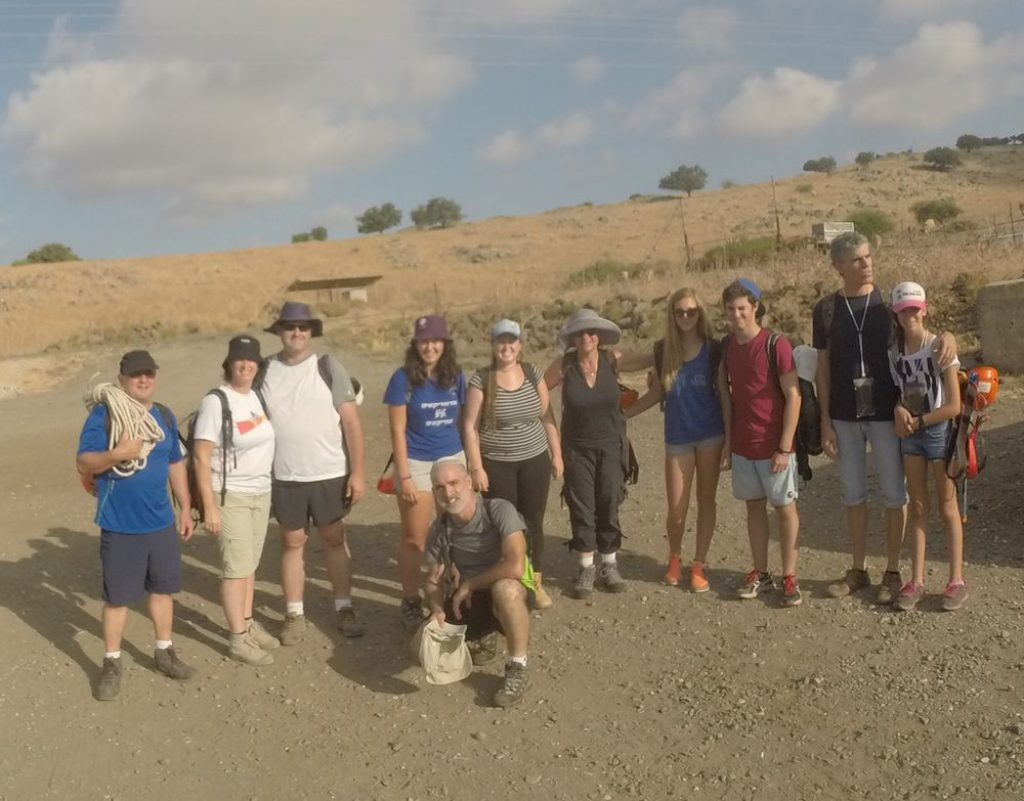 Start of the trail - Rappelling on the Golan - Black Ravine