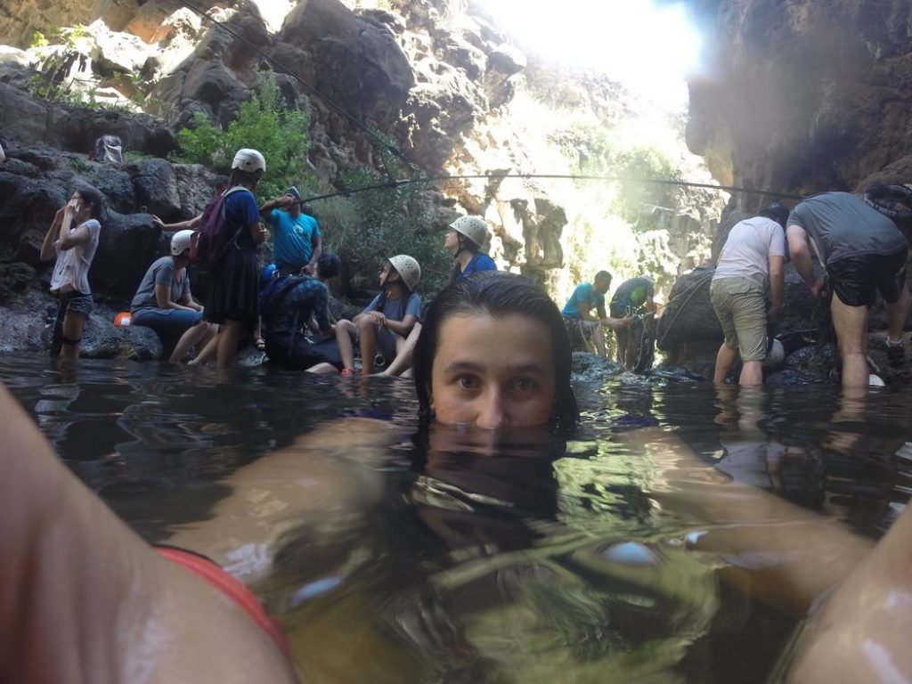 Fun in the water pools - Rappelling on the Golan - Black Ravine