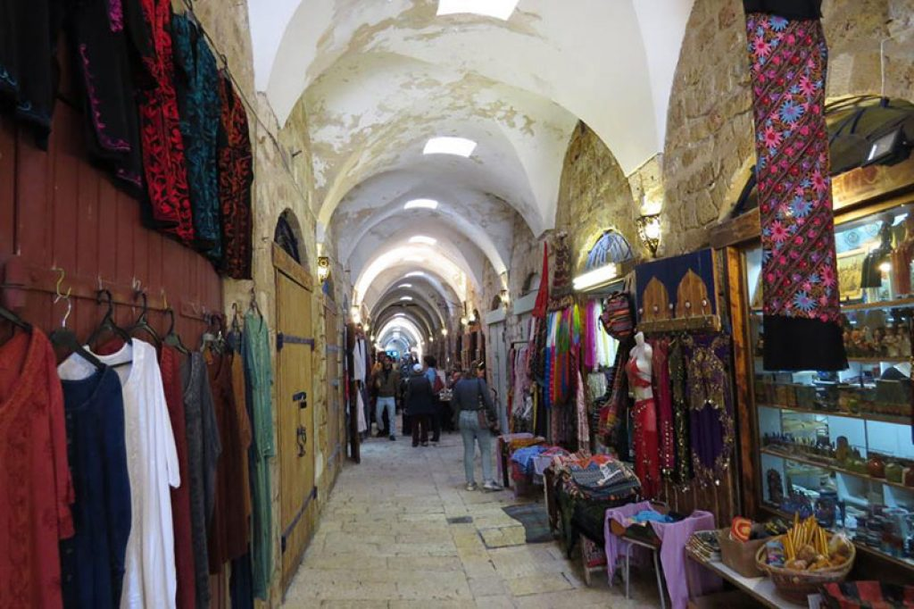 the newly renovated turkish bazaar in the old city of acco