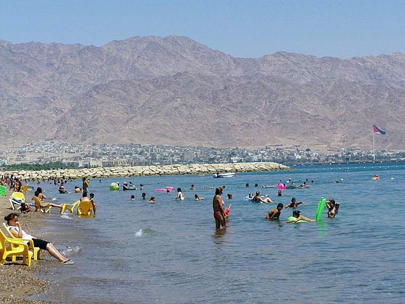 Eilat Bay and Mountains