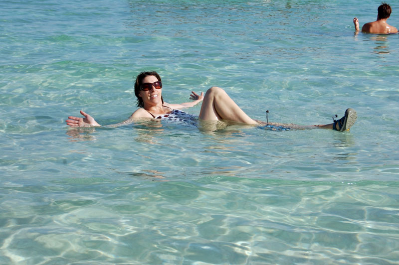 Floating in the Dead Sea