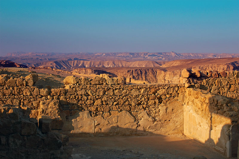 Fortress Remains on Mount Masada by Seth Berman