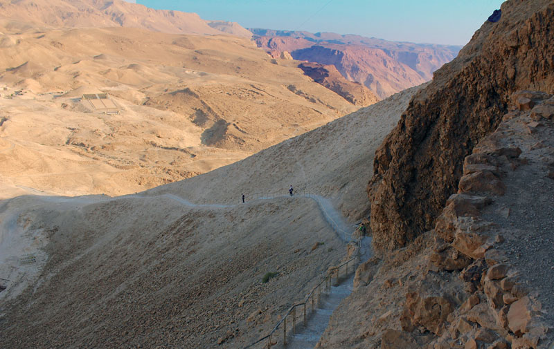 Snake Path leading to Masada